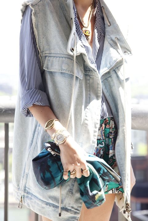 the stripes with denim work perfectly