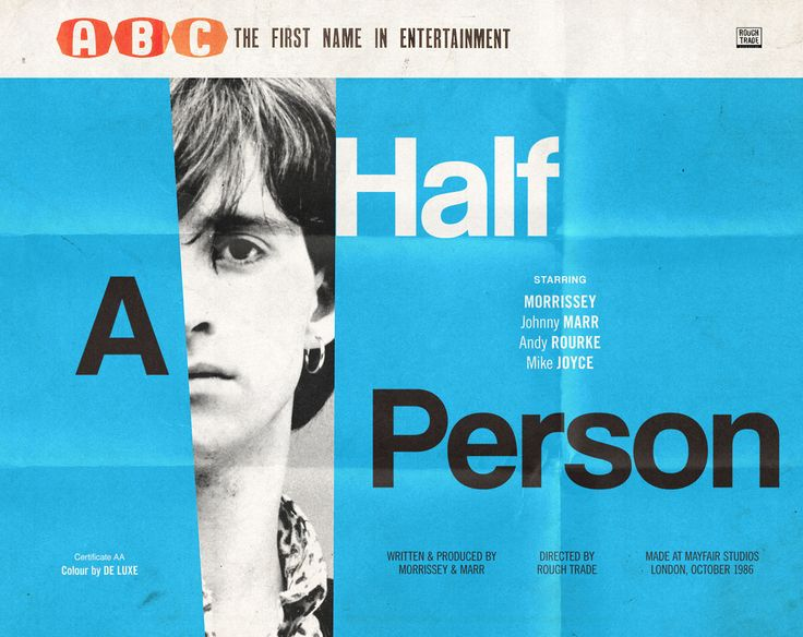 """The Smiths go down in celluloid history - """"Half A Person"""""""