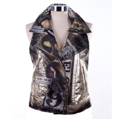 """Rock leather gilet"" for glam – rock style 	http://www.sassas-dresscode.com/product.asp?catid=312"