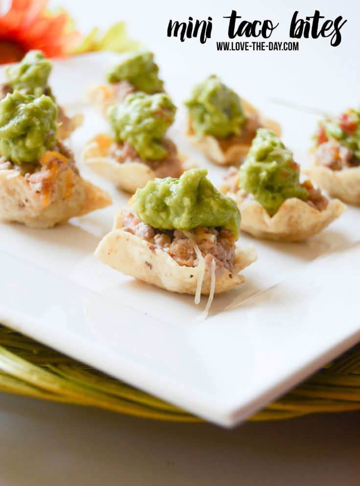 Mini Taco Bites Recipe with Honeysuckle White by Love The Day  #SimpleTurkeyDinners, #IC #ad