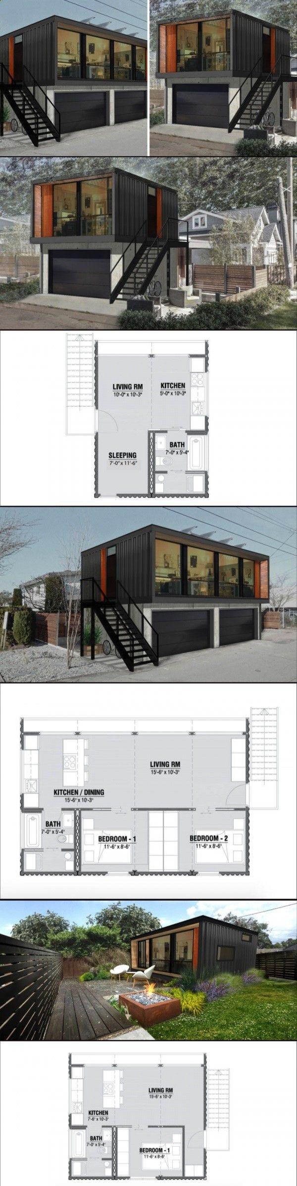 520 best home images on Pinterest | Shipping container homes ...