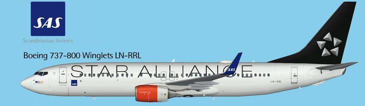 SAS Scandinavian Airlines Boeing 737-800 Winglets Star Alliance FS9