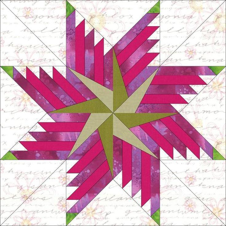 Feathered Pinwheel Star Block 4 Sizes | Craftsy