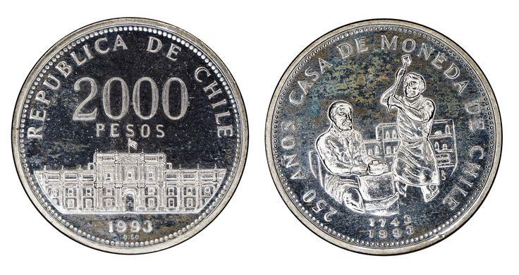 https://flic.kr/p/R8PvQC   2000 Pesos 1993 Chile   0.5 Silver Mintage: 50.000