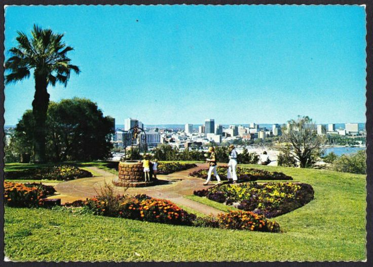 Perth from Kings Park. 1970's Postcard