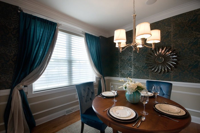 Beautiful Teal Dining Room By Classic Interiors Www