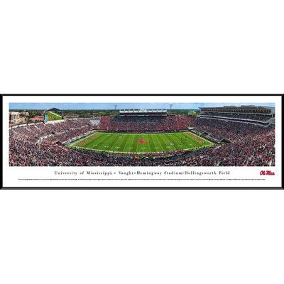 BlakewayPanoramas NCAA Mississippi Football Framed Photographic Print
