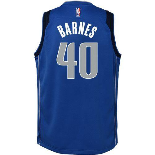 Nike Boys' Dallas Mavericks Harrison Barnes 40 Swingman Icon Jersey (Blue, Size Large) - Pro Licensed Product, Nba Youth at Academy Sports