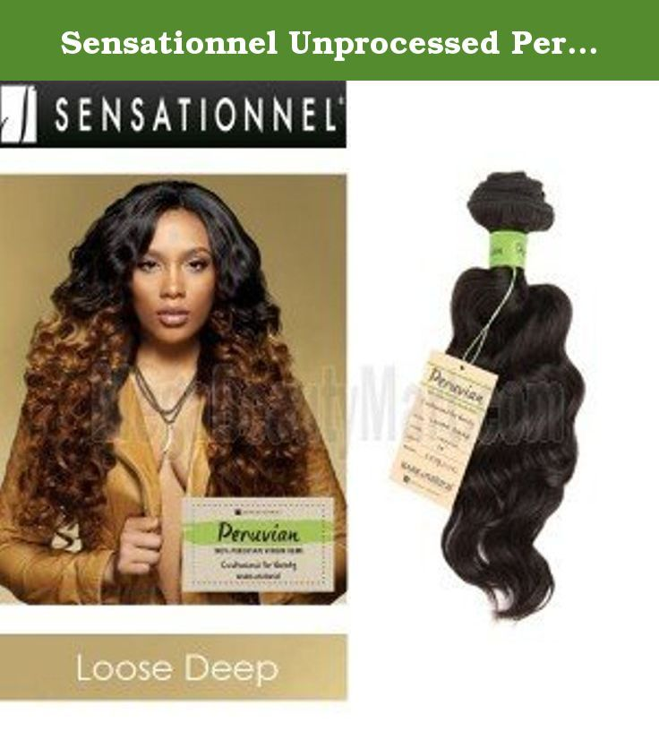 """Sensationnel Unprocessed Peruvian Virgin Remy Human Hair Weave Bare & Natural Loose Deep [16""""] (NATURAL). Sensationnel Unprocessed Peruvian Virgin Remy Human Hair Weave Bare & Natural Loose Deep •100% Peruvian Virgin Remy •Customized for Variety •5 A Quality •Excellent Performance for: Bleach, Multiple Dye, Perm, Wet&Wavy, Cur Restoration •When Washing:◦First, detangle the hair, afterwards wash the hair with lukewarm water. ◦We recommend using amild, sulfate-free detagling shampoo and a..."""