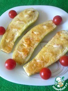 Кабачки запечённые с чесноком и соевым соусом
