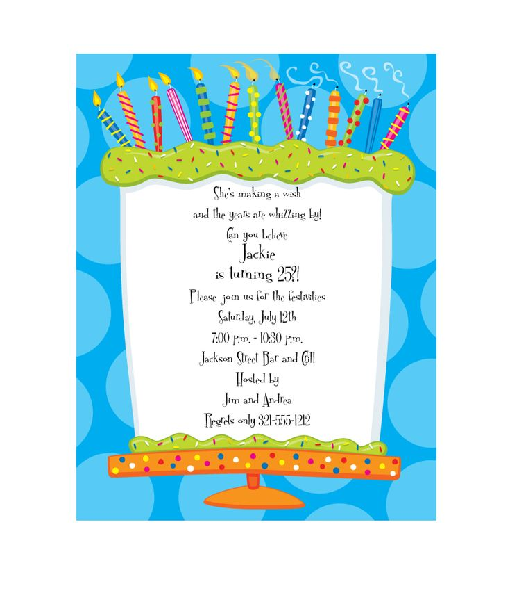 12 best Invitations images on Pinterest | Birthday cake, Birthday ...