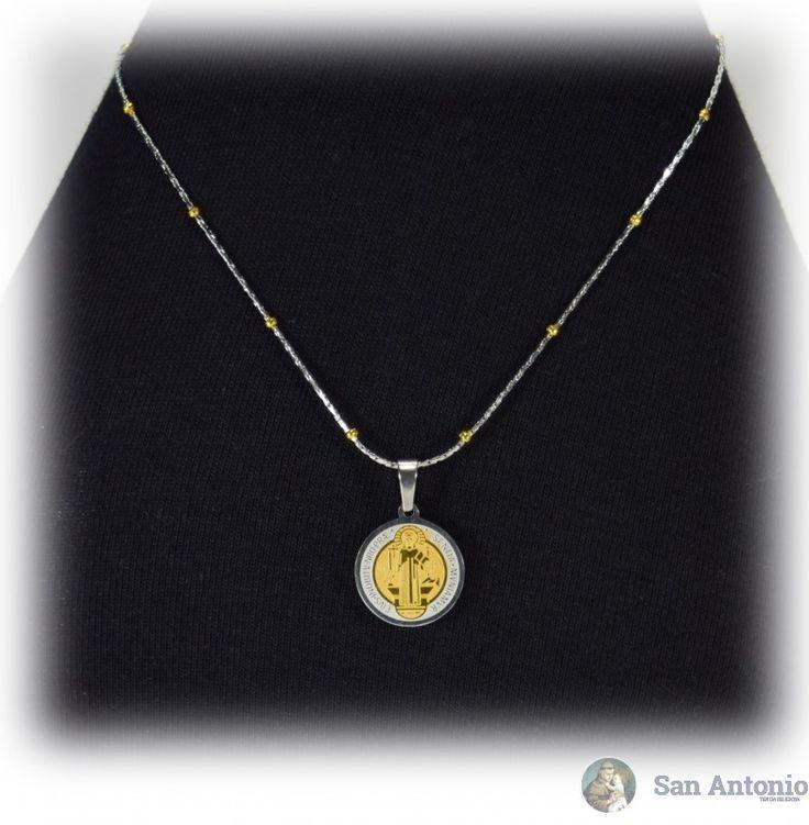 Medalla De San Benito (1.5 Cm): El origen de esta medalla se fundamenta en una verdad y experiencia del todo espiritual que aparece en la vida de san Benito, tal como nos la describe el papa san Gregorio en el Libro II de los Diálogos.