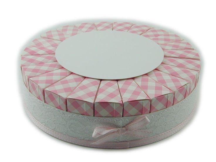 Torta bomboniera 23 fette adatta per il fai da te