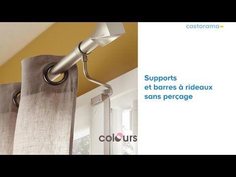 Gamme De Supports Barre A Rideaux Sans Percage 625252 Castorama Youtube Barre De Rideau Tringle Rideau Rideau Fenetre Pvc