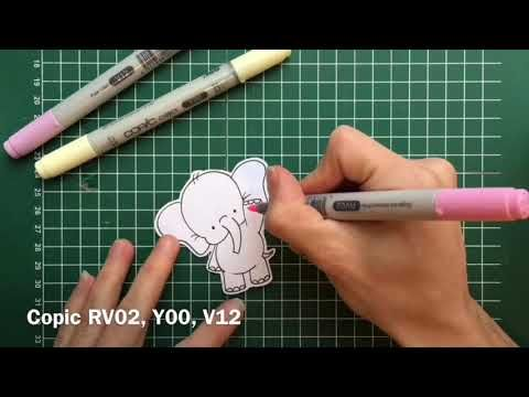 How to make a shaker card with a fuse tool and copic markers (schud kaart) - YouTube