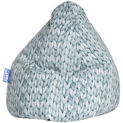 Basket Bean Bag Chair Color: Grabblau / Grey Blue - http://delanico.com/bean-bag-chairs/basket-bean-bag-chair-color-grabblau-grey-blue-641177713/