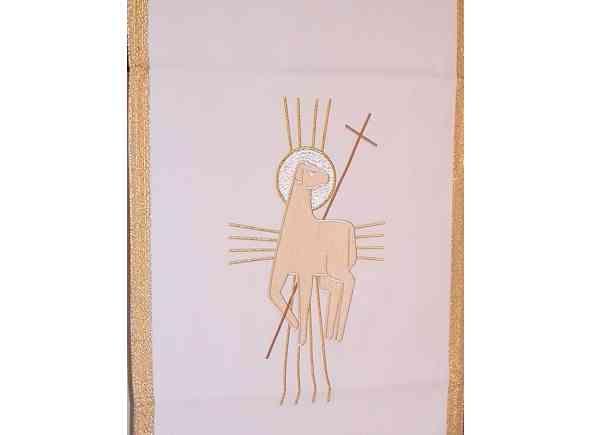 Paño de atril de poliéster en los cuatro colores litúrgicos