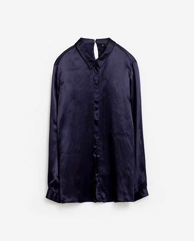SATEEN BLOUSE WITH BACK DETAIL. $20 from Zara