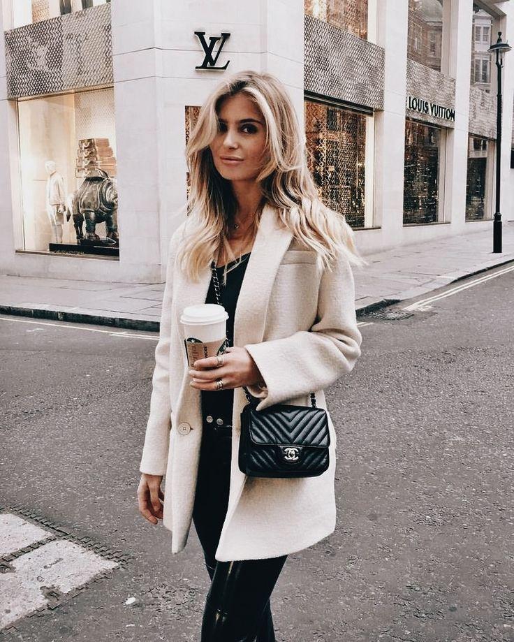Louis Vuitton store. Chanel bag.