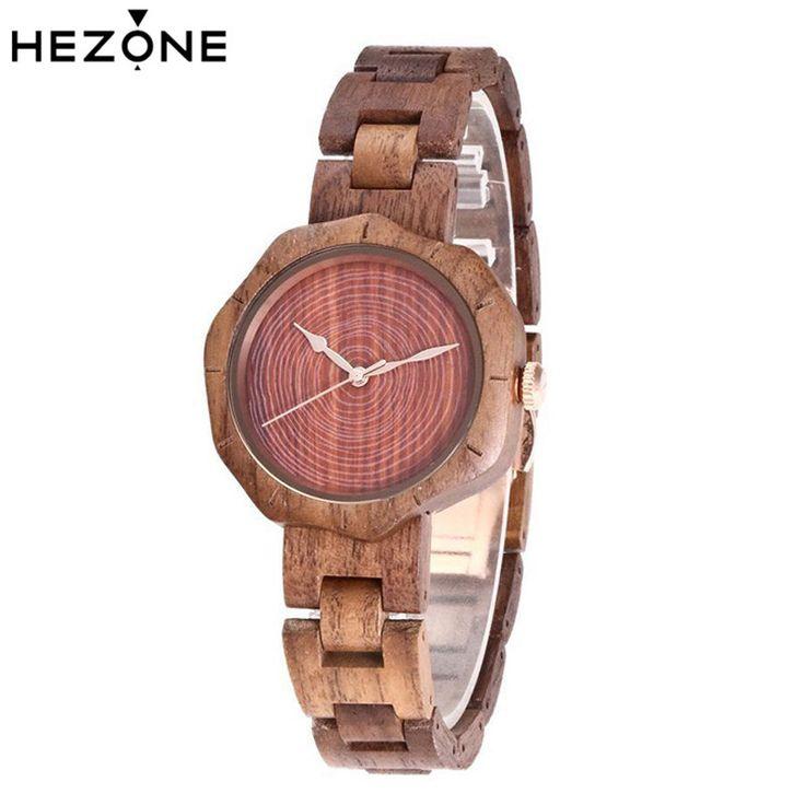 Wooden Quartz Watches Women Ladies Bracelet