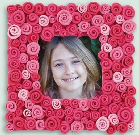 cuadro decorado con rosas