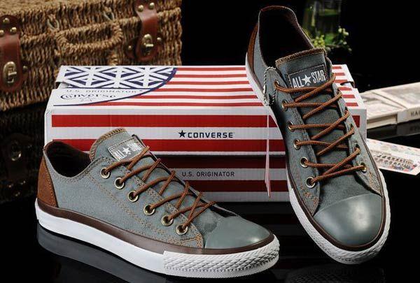 Gris Denim Converse All Star Vampire Diaries Low Tops Sneakers converse homme/femme
