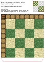 Minecraft Papercraft Chess free download is here.