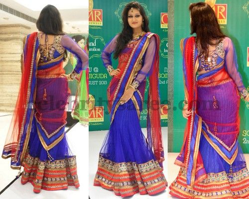 Niloufer Latest Half Saree | Saree Blouse Patterns