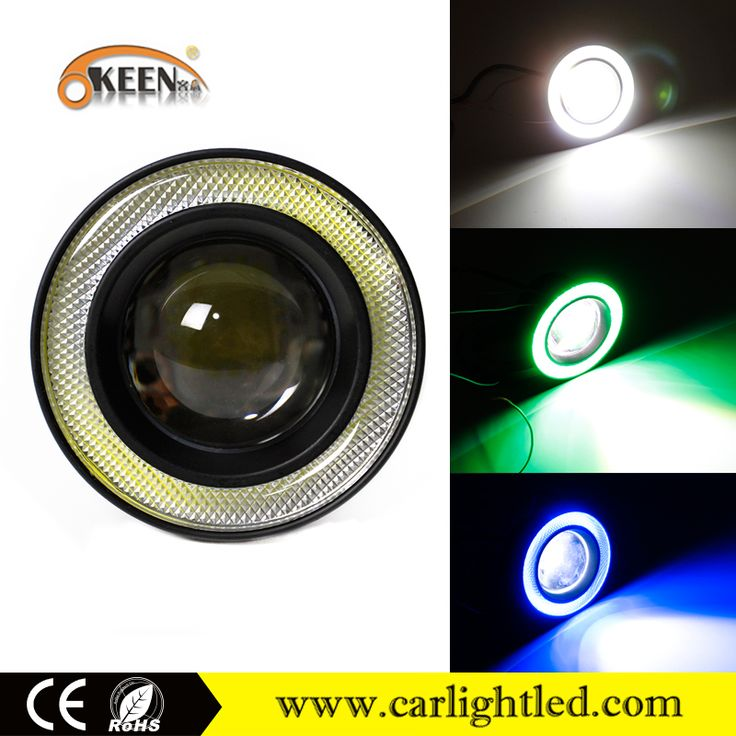 10W Universal 3.5 inch Led Projector Angel Eye Light Led COB Auto and Motorcycle Fog Light Car Fog Lights for sale