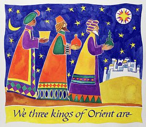 Three Kings Painting - We Three Kings Of Orient Are by Cathy Baxter