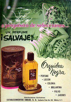 Orquidea Negra ad from Mexico 1958