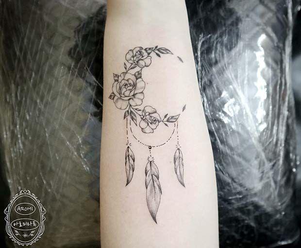 63 Amazing Dream Catcher Tattoo Ideas Stayglam Tattoo Designs For Women Dream Catcher Tattoo Design Tattoos For Women