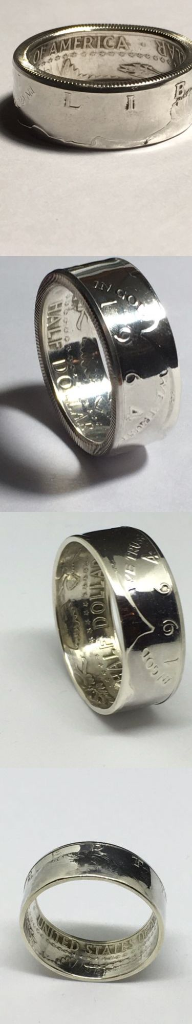 Rings 110666: 1964 Jfk Kennedy Half Dollar 90% Silver Coin Ring Men S Wedding Band Size 7-13 -> BUY IT NOW ONLY: $30 on eBay!