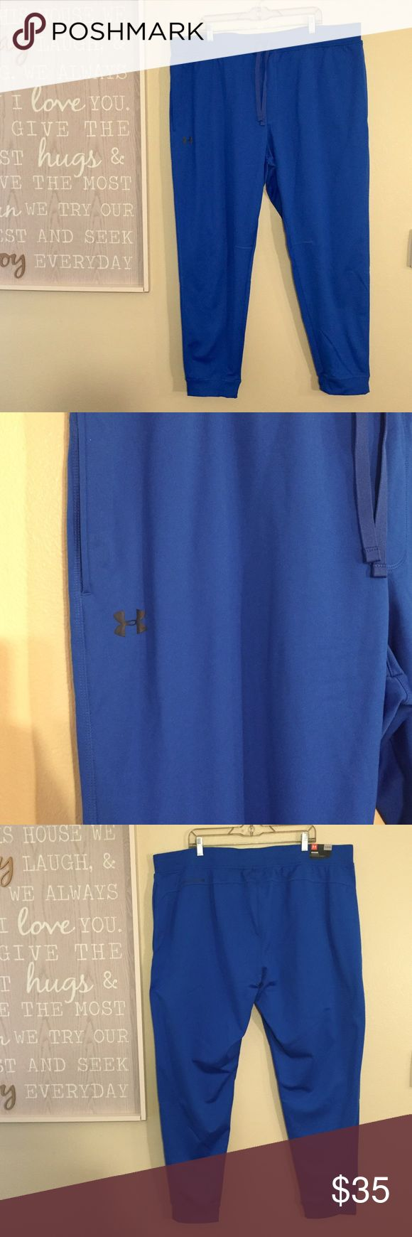 3XLT Under Armour mens blue jogger sweatpants NWT These are brand new with tags attached. Comfortable and loose to wear. Drawstring at waist and slit pockets on hips. Jogger style with cuffed hem. Big and tall sizing.    010 Under Armour Pants Sweatpants & Joggers