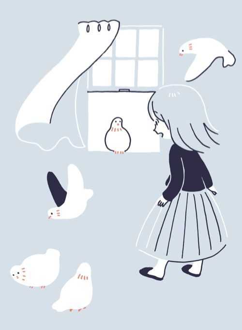 Japanese Illustration: Cuckoo Clock. Hirasawa Minami. 2014