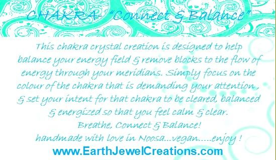 Chakra crystal energy jewelry