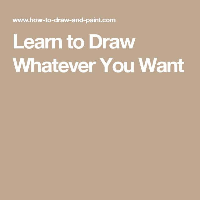 Learn to Draw Whatever You Want