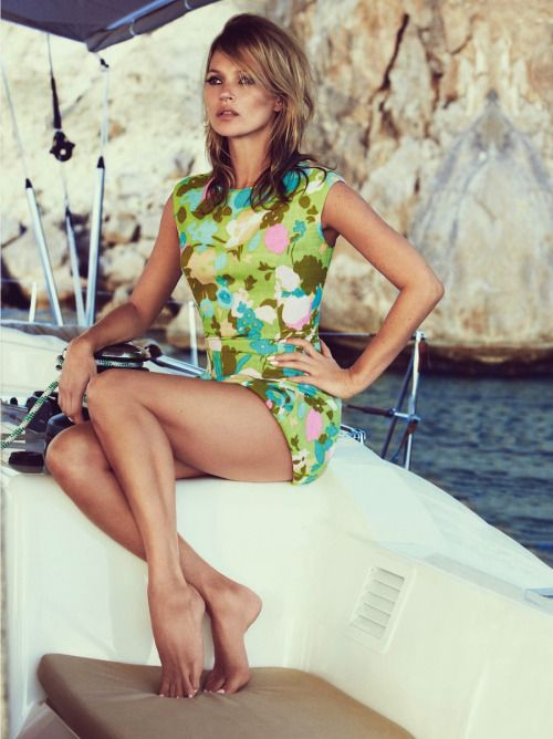 kate moss vintage pucci boat sardinia model editorial