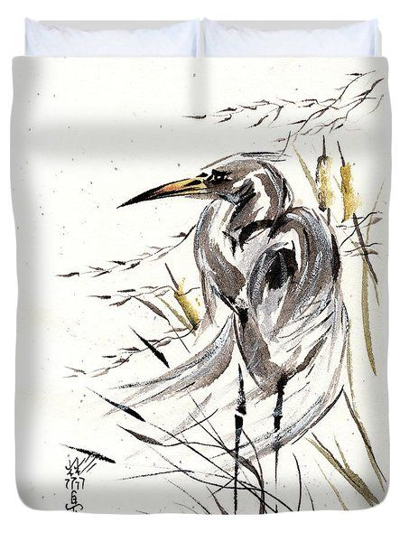 Grace Of Solitude Duvet Cover by Bill Searle