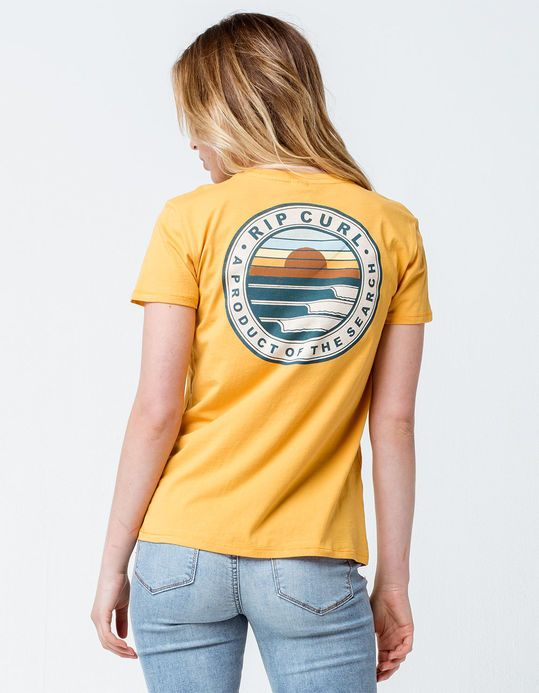4aa37ed0af RIP CURL Sunset Search Yellow Womens Tee | Clothes and stuff I can ...