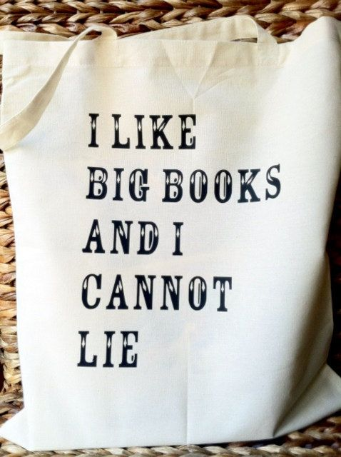 I Like Big Books and I Cannot Lie Canvas Tote Bag by StacieAnn, $14.95