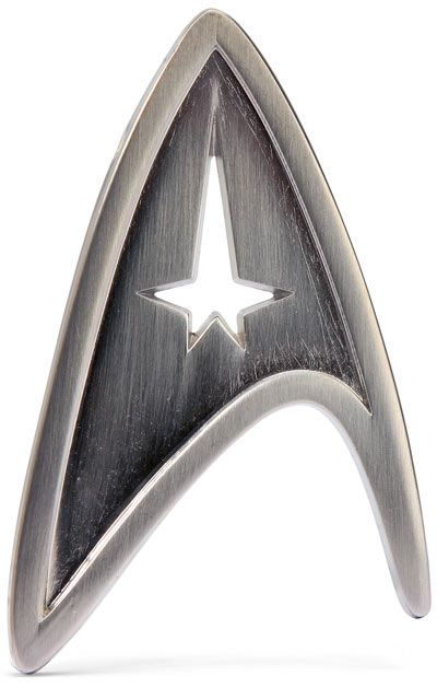 Star Trek pins (for the men, instead of boutonnieres)
