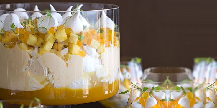 Summer Trifle with Tropical Fruits