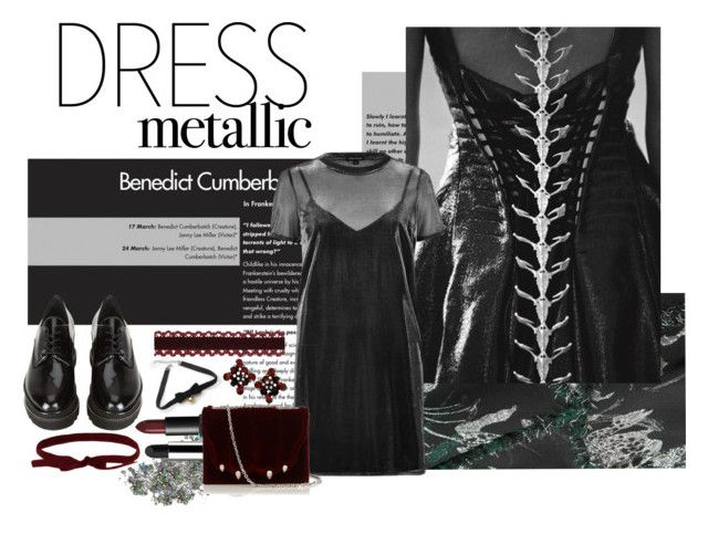 back to black by nicolepuppy on Polyvore featuring River Island, Erdem, Stuart Weitzman, Marco de Vincenzo, COS, NARS Cosmetics and Marc Jacobs