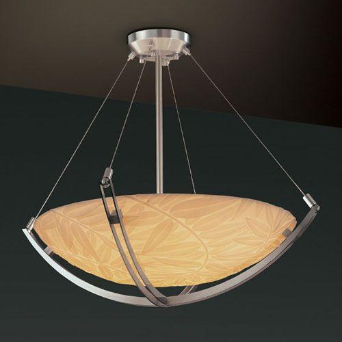 Porcelina Crossbar CrossbarThree-Light Dark Bronze Pendant Bowl With Crossbar - (In Dark Bronze)
