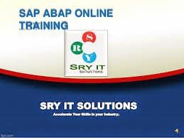SAP Online Training: SAP ABAP Online Training at SRY IT Solutions – Pro...