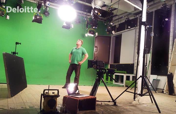 Deloitte green screen production
