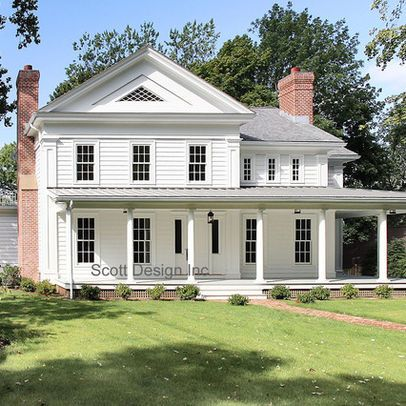 New 1850's Greek Revival Farmhouse - traditional - exterior - new york - Scott Design, Inc.