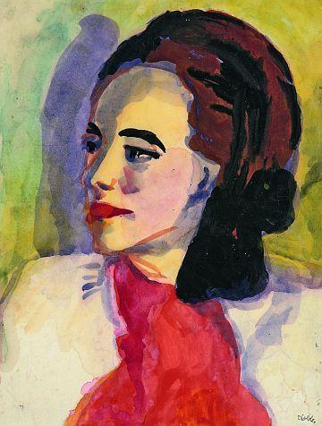 Emil Nolde 1950,Frauenportrait (Jolanthe Nolde)                                                                                                                                                     More