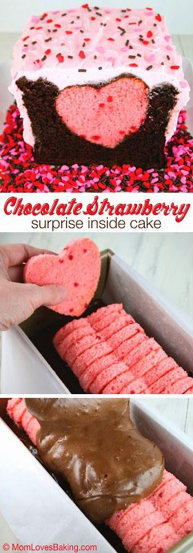 all-food-drink: Chocolate Strawberry Surprise Inside Cake